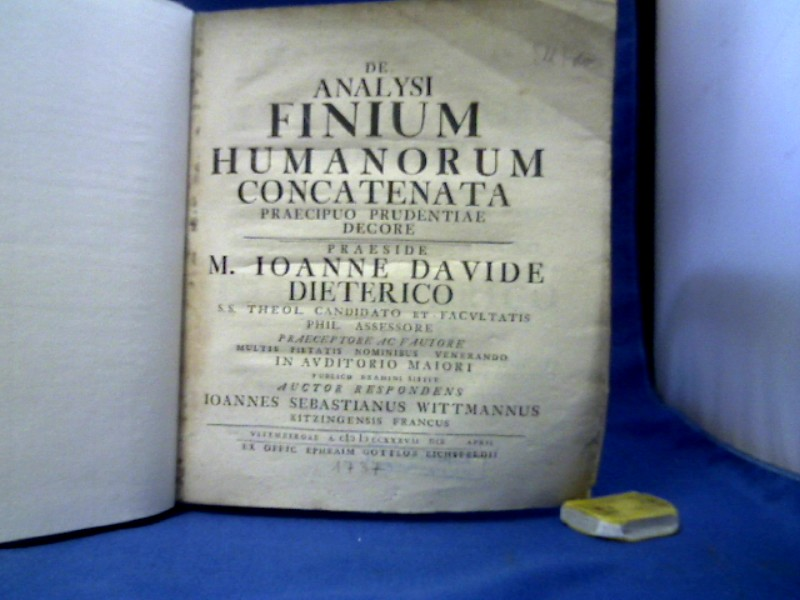 De analysi finum humanorum concatenata praecipuo prudentiae decore.
