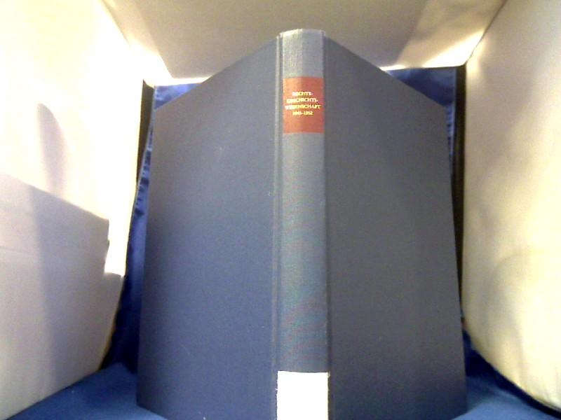 Rechtsgeschichtswissenschaft in Deutschland 1945 bis 1952. hrsg. von Horst Schröder und Dieter Simon. =(Ius Commune. Studien zur europäischen Rechtsgeschichte ; 141.) 1. Auflage.