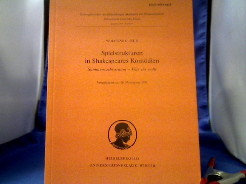 Spielstrukturen in Shakespeares Komödien :