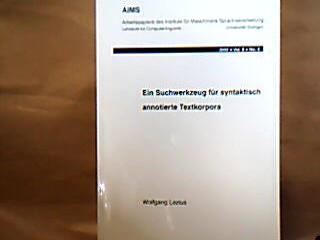 Ein Suchwerkzeug für syntaktisch annotierte Textkorpora