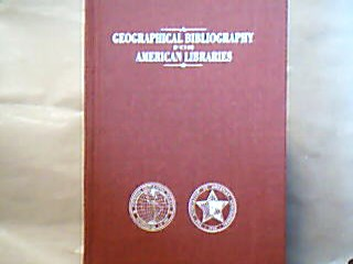 A Geographical Bibliography for american Libraries