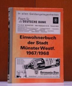Einwohnerbuch der Stadt Münster 1967/1968.  70. Jahrgang.