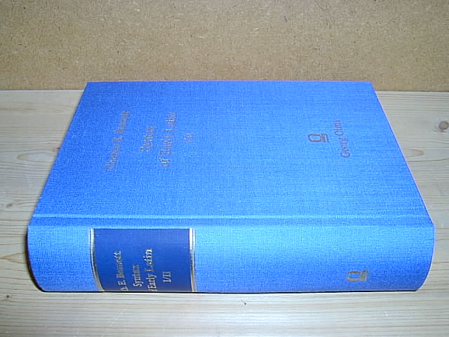 Syntax of Early Latin. 2 volumes, bound in 1 book. - Bennett, Charles E.