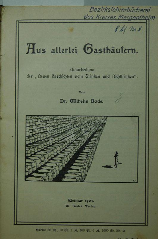 Sammelband mit 4 interessanten Schriften zur Alkoholfrage.