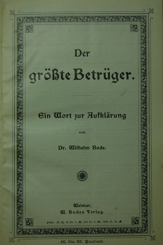 Sammelband mit 6 interessanten Schriften zur Alkoholfrage.
