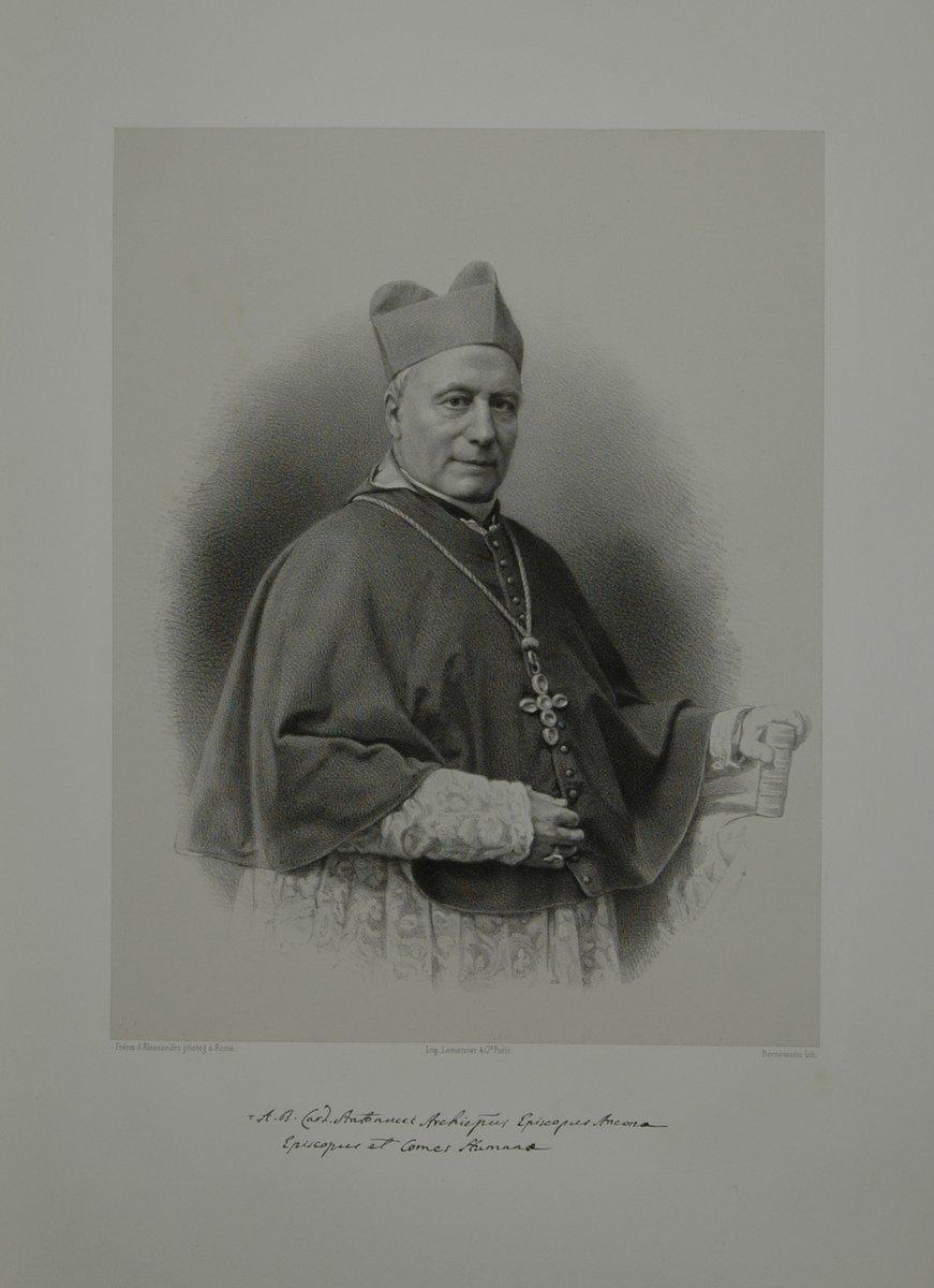 Portrait. Halbfigur in Kardinalstracht. Lithographie auf Chinapapier von Lafosse.