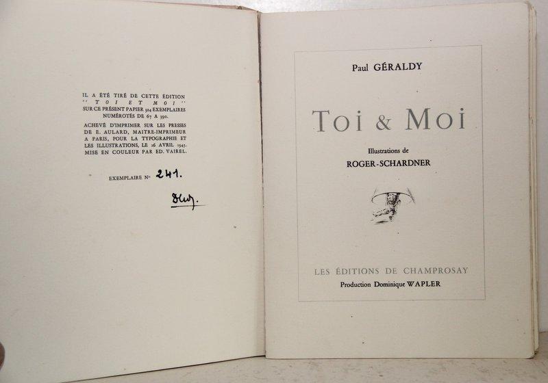 Toi & Moi. Illustrations de Roger-Schardner.