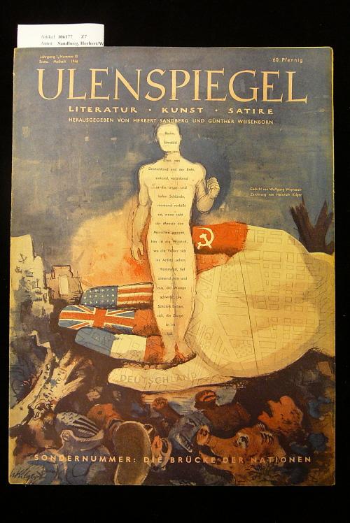 Ulenspiegel - Satirezeitschrift  Jahrgang 1, Nr. 10, 1. Maiheft 1946. Literatur - Kunst - Satire.