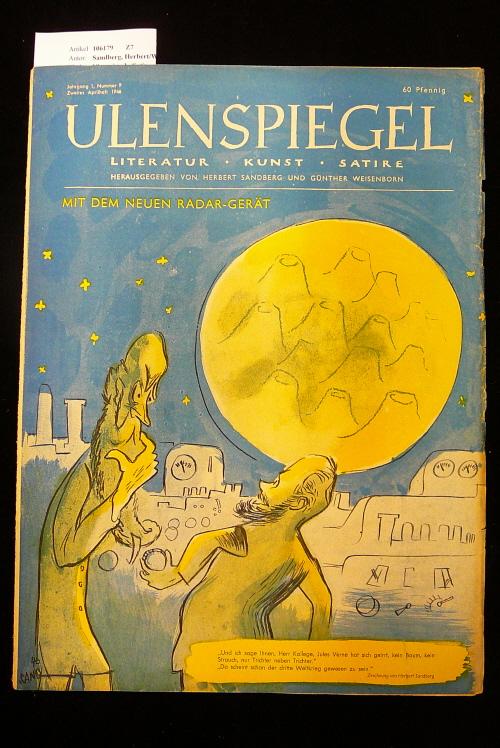 Ulenspiegel - Satirezeitschrift  Jahrgang 1, Nr. 9,  2. Aprilheft 1946. Literatur - Kunst - Satire.