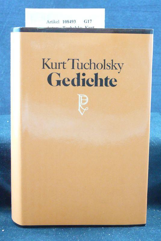 Tucholsky, Kurt. Gedichte. Herausgegeben von Mary Gerold-Tucholsky. 18.-27. Tsd.