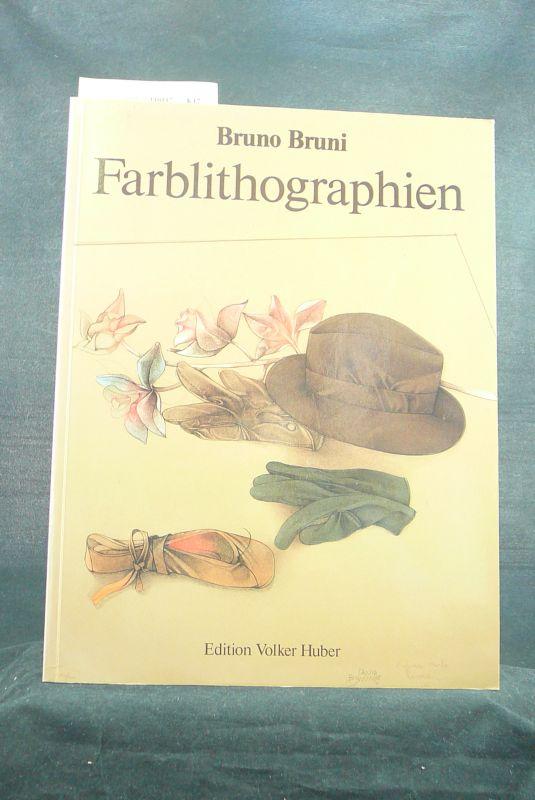 Huber, Volker. Bruno Bruni. Werkverzeichnis der Farblithographien 1796-1988. 2. Auflage.