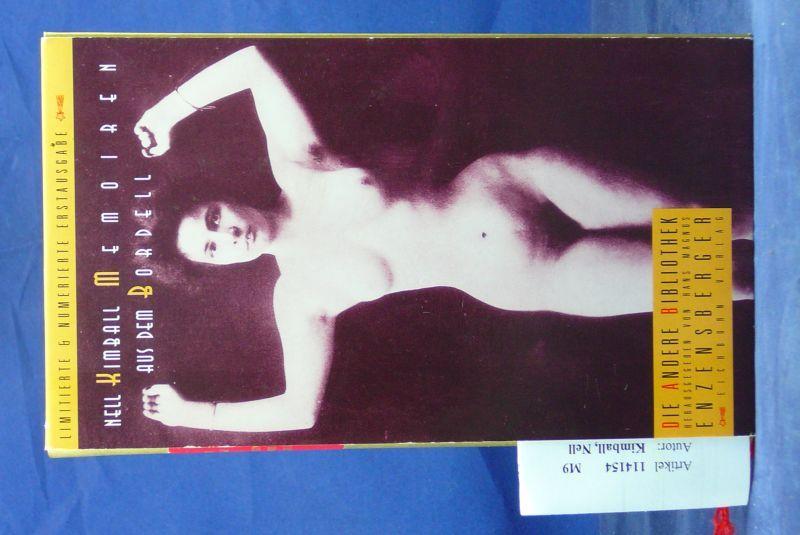 Memoiren aus dem Bordell. Die Andere Bibliothek - Nr: 2792. 1.bis 8. Tsd.
