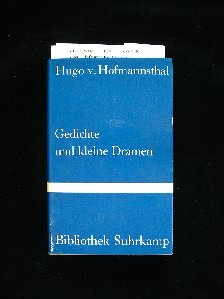 Gedichte und kleine  Dramen. 7.-9. Tsd.