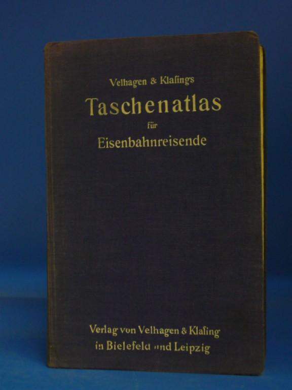 Taschenatlas für Eisenbahnreisede. mit erläuterndem Text und einem Ortsverzeichnis. o.A.