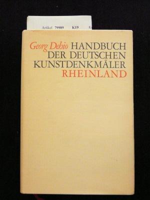 Handbuch der deutschen Kunstdenkmäler - Rheinland.