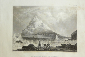 "Ansicht  ""St. Michaels Mount in Cornwall""."