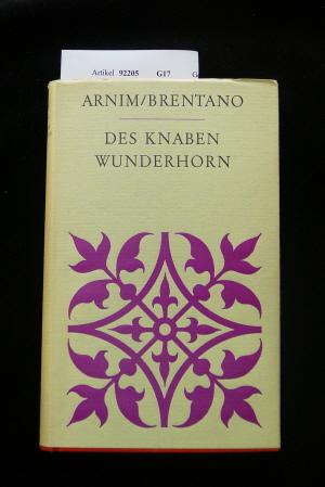 Des Knaben Wunderhorn. Alte Deutsche Lieder. o.A.