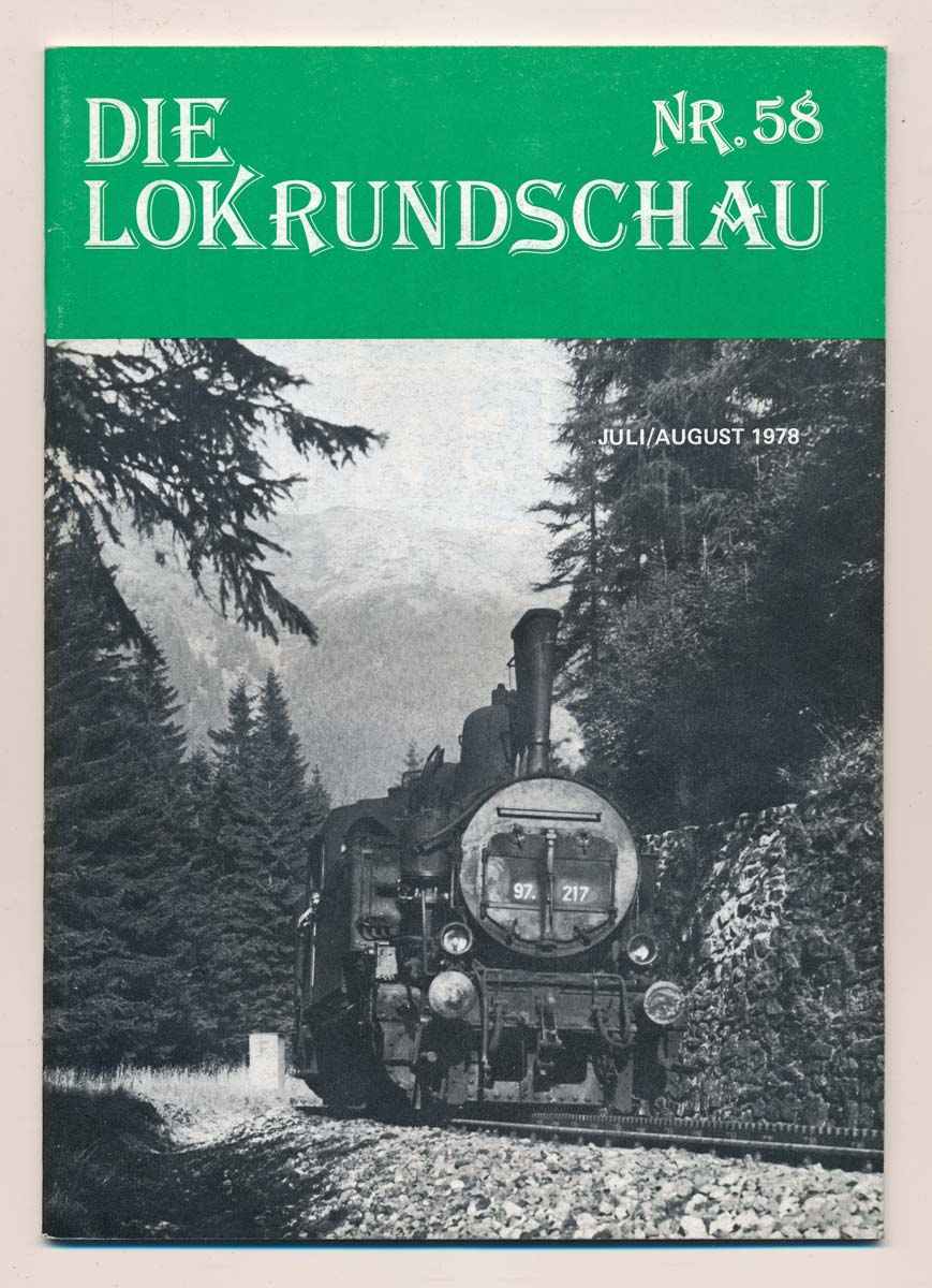 Lok Rundschau. Magazin für Eisenbahnfreunde Heft Nr. 58: April 1978.