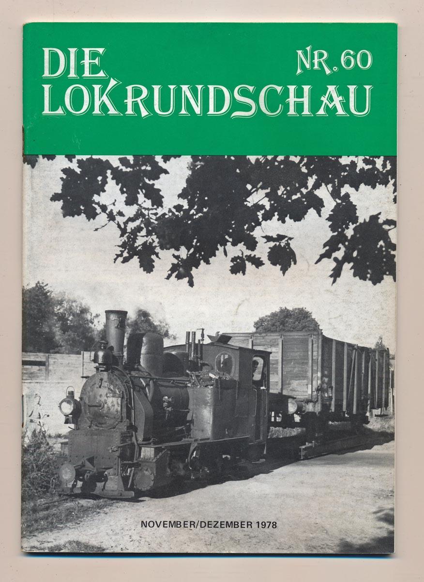 Lok Rundschau. Magazin für Eisenbahnfreunde Heft Nr. 60: August 1978.