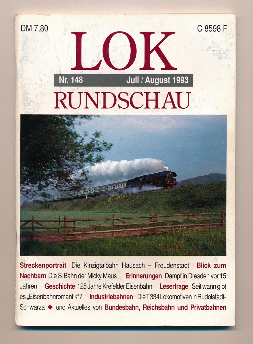 Lok Rundschau. Magazin für Eisenbahnfreunde Heft Nr. 148: Juli/August 1993.