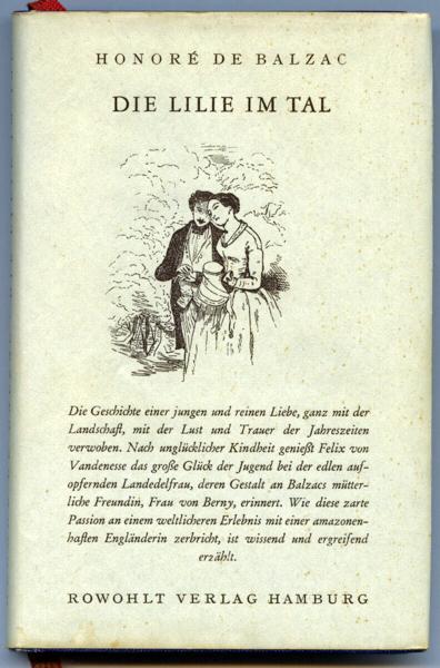 BALZAC, Honoré de Die Lilie im Tal. Dt. von Charlotte Braun-Wogau.