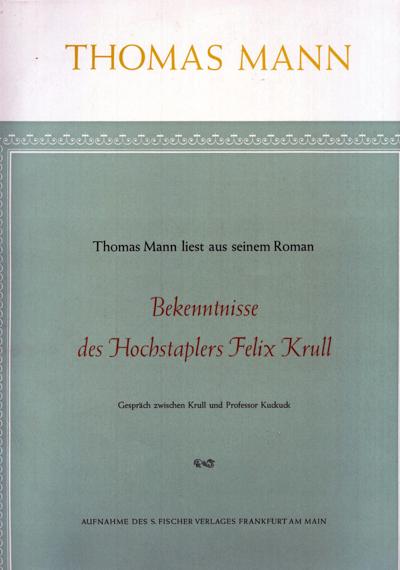 Gespräch zwischen Krull und Professor Kuckuck [Vinyl-LP]. Autorenlesung.