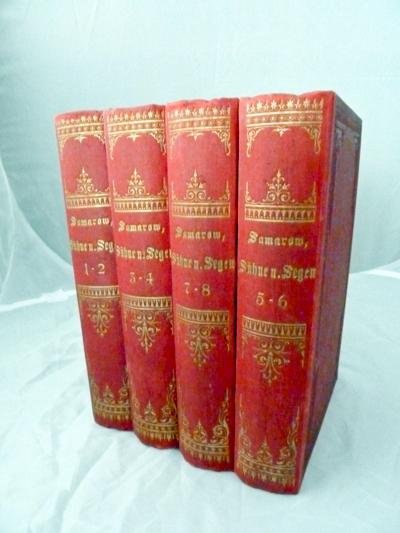 SAMAROW, Gregor (d.i. Johann Ferdinand Martin Oskar Meding ) Sühne und Segen. Sozialer Roman. 8 Bände (in 4).