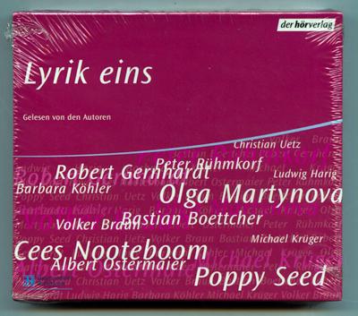Lyrik eins. Gelesen von den Autoren. 4 Audio-CDs.