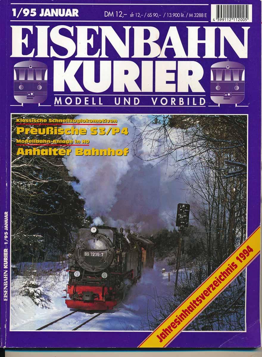 Div. Eisenbahn-Kurier. Modell und Vorbild. hier: Heft 1/95 (Januar 1995).