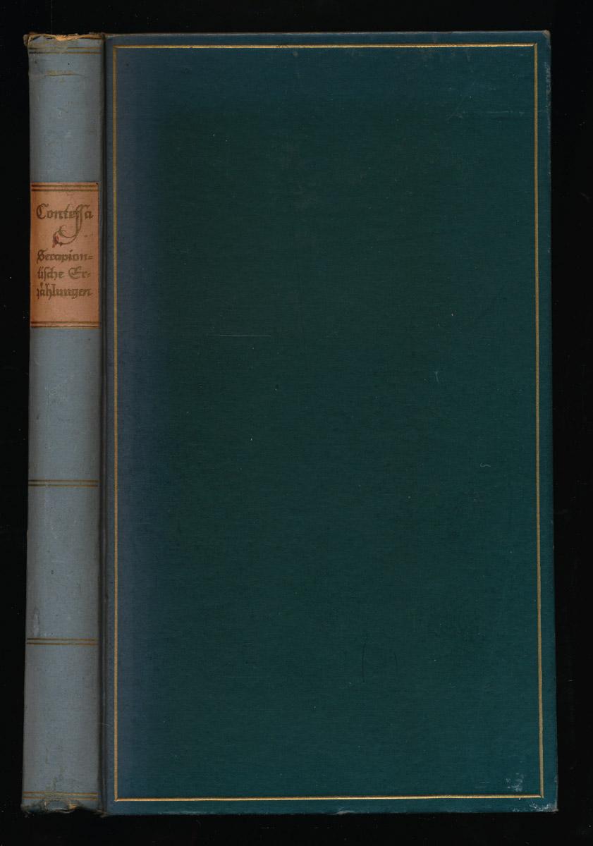 SALICE CONTESSA, Carl Wilhelm Serapiontische Erzählungen.