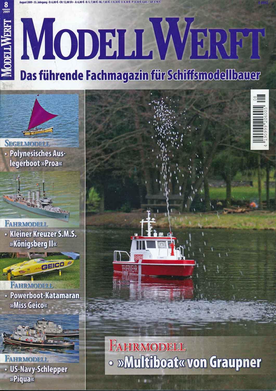 Modell-Werft. Das führende Fachmagazin für Schiffsmodellbauer. hier: Heft 8/2009.