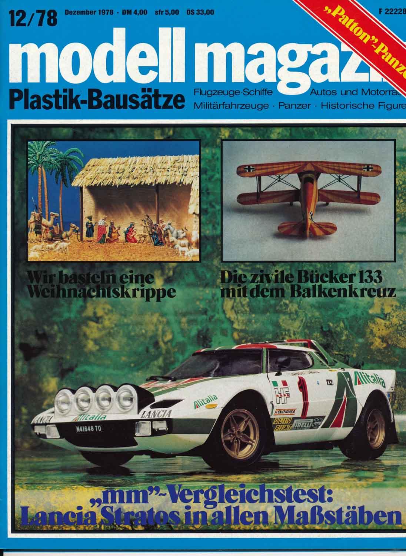 modell magazin. Plastik-Bausätze. Flugzeuge-Schiffe - Autos und Motorräder - Militärfahrzeuge - Panzer - Historische Figuren. hier: Heft 12/1978.