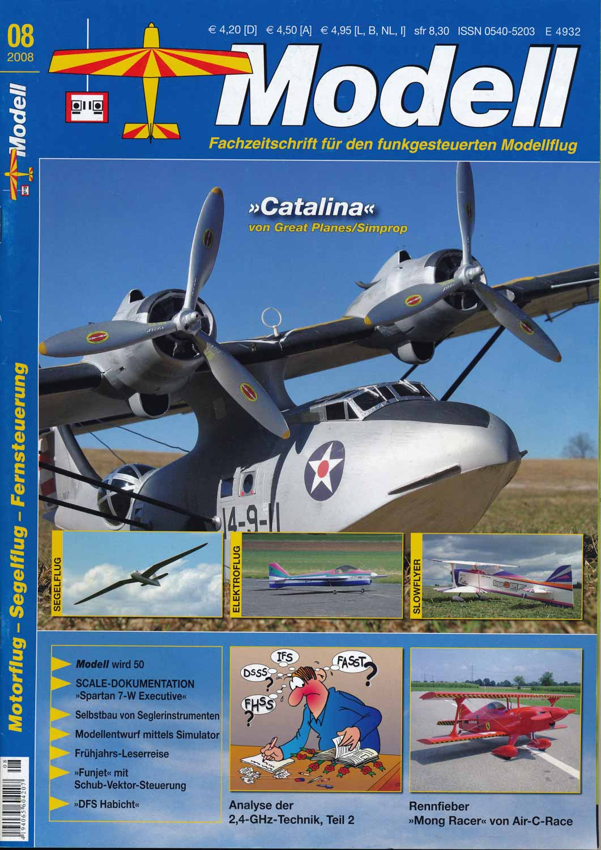 Modell. Fachzeitschrift für den funkgesteuerten Modellflug. hier: Heft 8/2008.