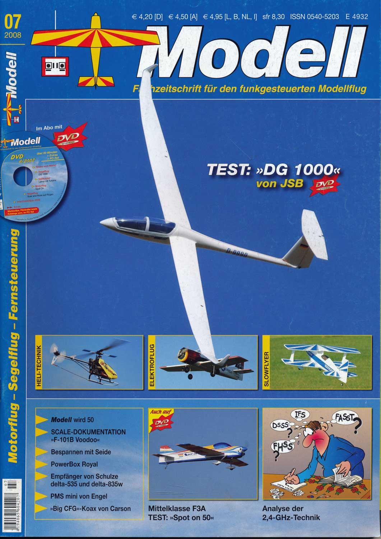 Modell. Fachzeitschrift für den funkgesteuerten Modellflug. hier: Heft 7/2008.