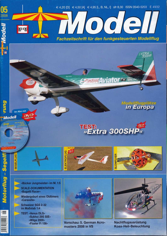 Modell. Fachzeitschrift für den funkgesteuerten Modellflug. hier: Heft 5/2008.