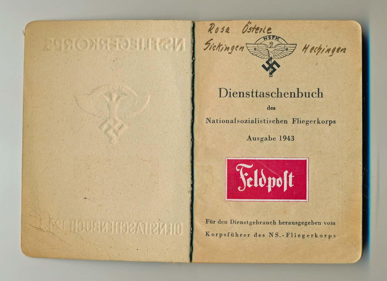 Diensttaschenbuch des Nationalsozialistischen Fliegerkorps. Ausgabe 1943. Für den Dienstgebrauch hrggb..