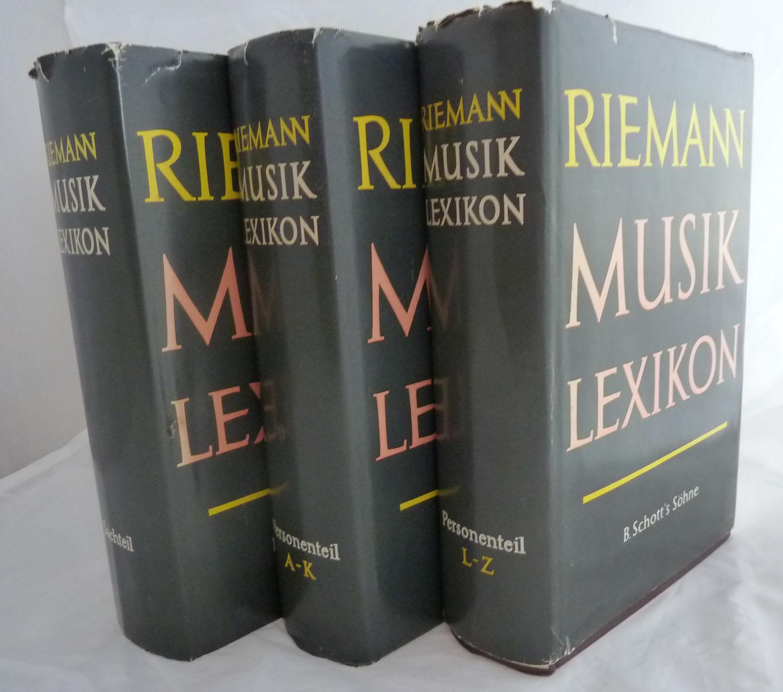 Riemann Musiklexikon. 3 Bde. (= komplette Edition). Band 1: Personenteil A - K, Band 2: Personenteil L - Z, Band 3: Sachteil. 12, völlig neu bearb. Aufl.