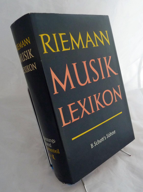 Riemann Musiklexikon. Ergänzungsband Personenteil A - K. 12, völlig neu bearb. Aufl.