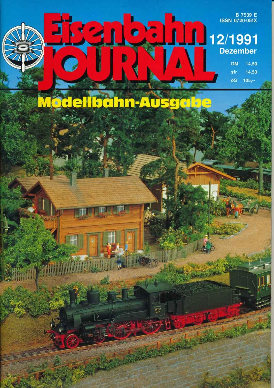 "Eisenbahn Journal ""Modellbahn-Ausgabe"" Heft 12/1991 (Dezember 1991)."