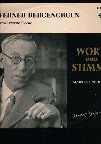 Werner Bergengruen spricht eigene Werke. Viny-LP (PLB 6219).