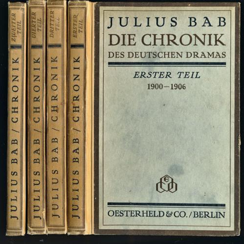 Die Chronik des deutschen Dramas. 4 Bde. (= kompl. Edition).