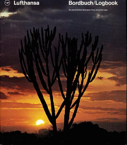 Lufthansa Bordbuch/Logbook. hier: Ostafrika u.a..