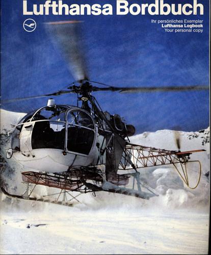 Lufthansa Bordbuch/Logbook. .
