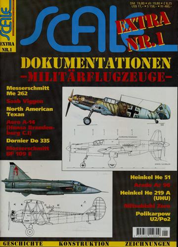 Scale Extra. hier: Heft Extra Nr. 1: Dokumentationen  - Militärflugzeuge -.