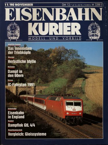 Eisenbahn-Kurier Heft Nr. 11/90 (November 1990).