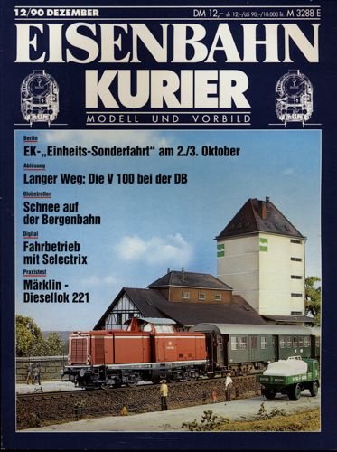Eisenbahn-Kurier Heft Nr. 12/90 (Dezember 1990).
