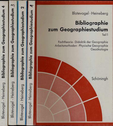 Bibliographie zum Geographiestudium. 4 Bde..
