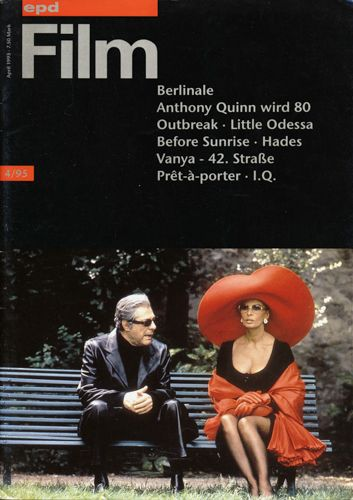 epd (Evangelischer Pressedienst) Film Heft 4/95 (April 1995): Berlinale. Anthony Quinn wird 80. Outbreak/Little Odessa/Before Sunrise/Hades/Vanya-42. Straße/Prêt-à-porter. I.Q.