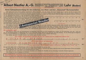 Nestler, Albert A.-G.: Kurze Gebrauchsanweisung für den einfachen, den Rietz- und den
