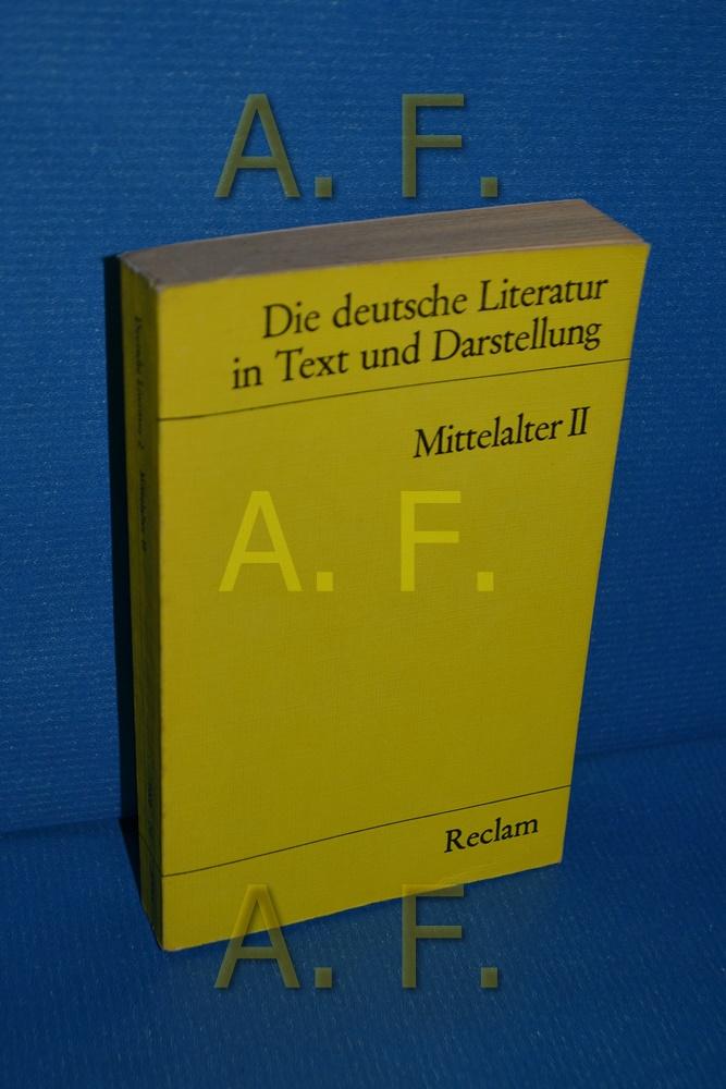 Die deutsche Literatur, Teil: Bd. 2., Mittelalter : 2. hrsg. von Hans Jürgen Koch / Universal-Bibliothek , Nr. 9605 - Koch, Hans Jürgen (Hrsg.)